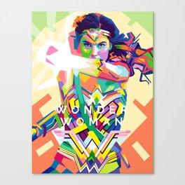 wonderwoman Pop art Canvas Print