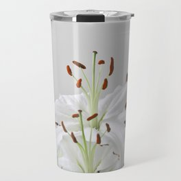 Floral Lilies Daisies Travel Mug