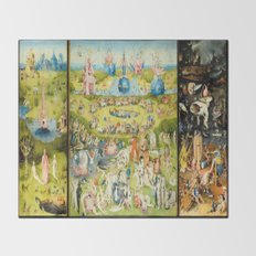 The Garden of Earthly Delights Throw Blanket