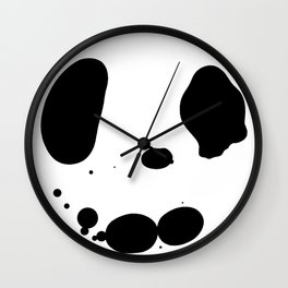 Olive Oil Rorschach Wall Clock