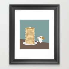 Hungry Dog  Framed Art Print