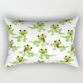 Lizard Neck Gator Lizards Rectangular Pillow