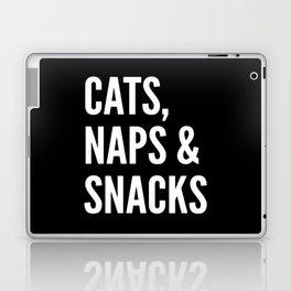 Cats, Naps & Snacks (Black) Laptop & iPad Skin