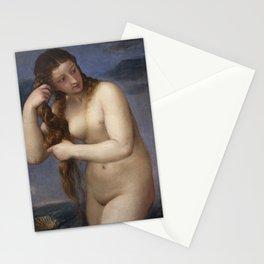 "Titian (Tiziano Vecelli) ""Venus Rising from the Sea"" (""Venus Anadyomene""), 1520 Stationery Cards"