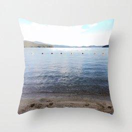 Lakeside at Priest Lake Throw Pillow