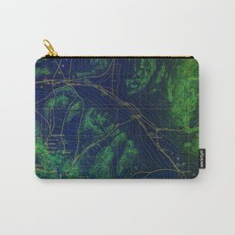 Las Vegas old map year 1908, Las Vegas antique map, green and blue Carry-All Pouch