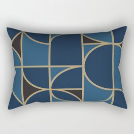 Morning Dance In Blue Big Scale Rectangular Pillow