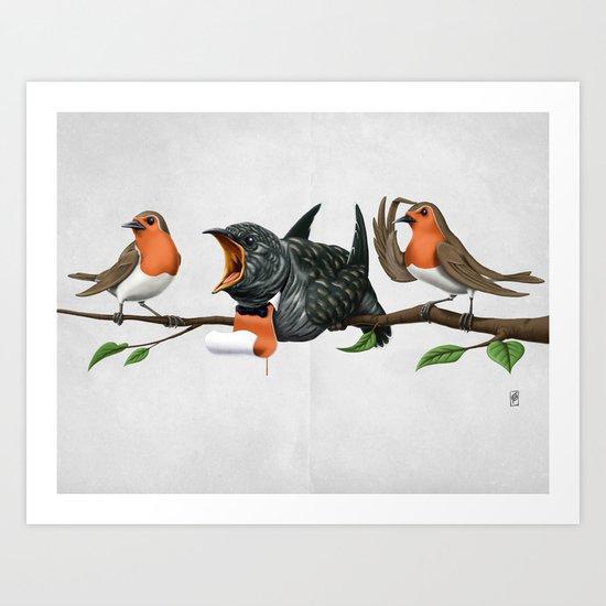 Cock Robin (Wordless) Art Print
