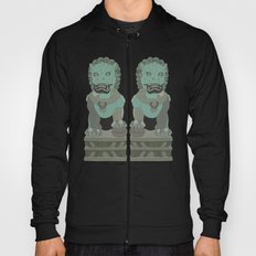 Chinese Lion Statues Hoody
