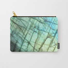 Teal Labradorite Gemstone print Carry-All Pouch