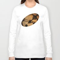 wall clock Long Sleeve T-shirts featuring The Clock The Time  by Eduard Leasa Photography