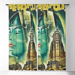 Vintage 1926 'Metropolis' Lobby Card Movie Film Poster by Fritz Lang Blackout Curtain