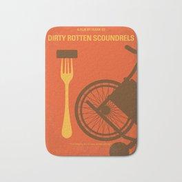 No536 My Dirty Rotten Scoundrels minimal movie poster Bath Mat