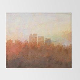 Louisville, Kentucky Skyline - In the Clouds Throw Blanket