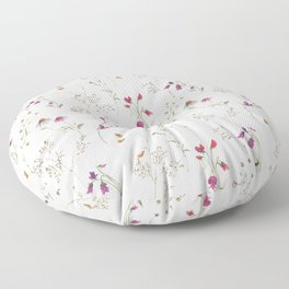Obviously Pink Wildflowers Floor Pillow