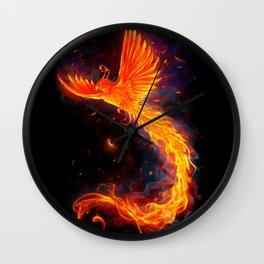 Immortal Flames t-shirt edit Wall Clock