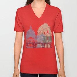 Rome skyline poster Unisex V-Neck