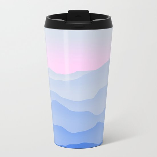 Between blue Metal Travel Mug