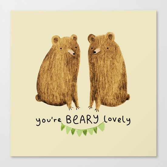 Beary Lovely Canvas Print