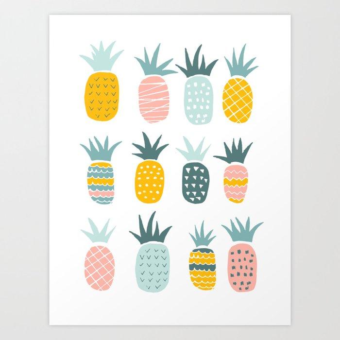 Pineapples Kunstdrucke