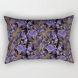 Opulent midnight garden Rectangular Pillow