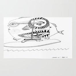 Surf´s up! Sharksurfing Rug