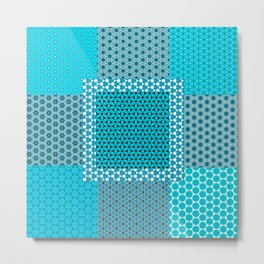 Abstract Turquoise Pattern C1 Metal Print
