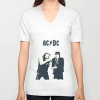 dc V-neck T-shirts featuring AC/DC by Nechifor Ionut