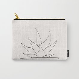 Minimalistic Succulent Plant Carry-All Pouch