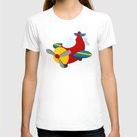 plane T-shirts featuring plane by Alapapaju
