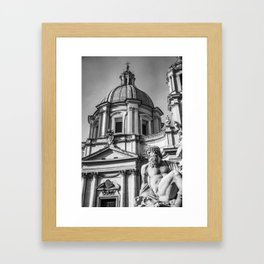 Piazza Navona, the ancient Stadium of Domitian, in Rome, Italy Framed Art Print