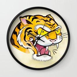 Tiger Tattoo Flash Wall Clock