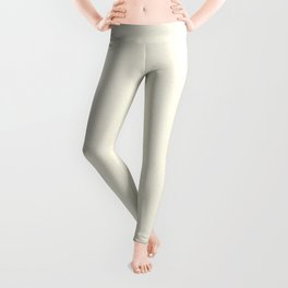 Melange - White and Cornsilk Yellow Leggings