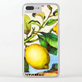 Branch of a lemon tree in autumn Clear iPhone Case