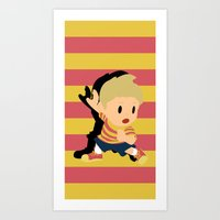 smash bros Art Prints featuring Lucas Super Smash Bros by jeice27