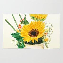 sunflower arrangement Rug