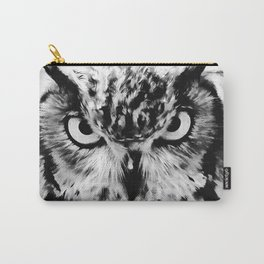 owl look digital painting reacbw Carry-All Pouch
