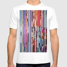 COLLAGE9 White Mens Fitted Tee MEDIUM