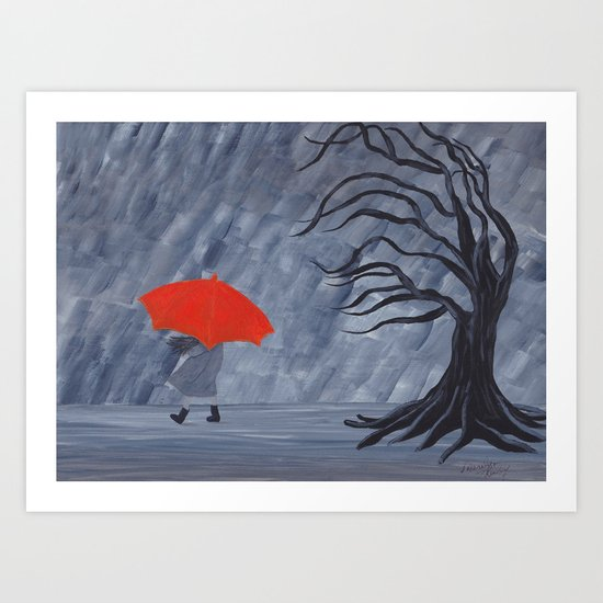 Orange Umbrella by marilyno