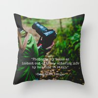 photographer Throw Pillows featuring Photographer by Jo Bekah Photography