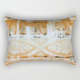 needlepoint sampler in sunny rays Rectangular Pillow