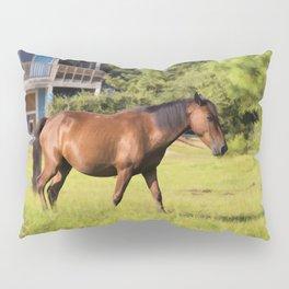 Horse in Corolla Pillow Sham