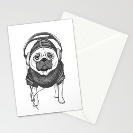 DJ Pug Stationery Cards