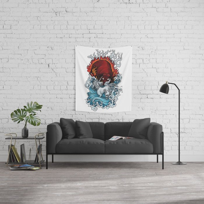 The Unicorn and the Bull Wall Tapestry