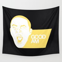 mac Wall Tapestries featuring Mac Miller - GO:OD AM by Zack Afshar