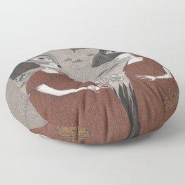 Ana and Eva (An All Hallows' Eve Tale) Floor Pillow