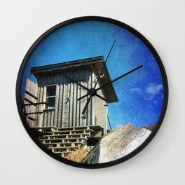 Fishing Shack Wall Clock