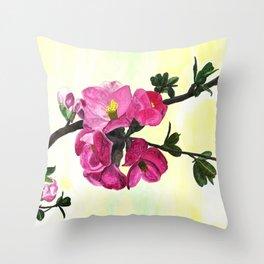 Blossom Spray Throw Pillow