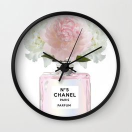 Pink perfume floral Wall Clock