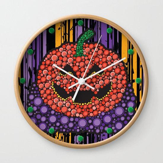 Pumpkin Halloween Wall Clock
